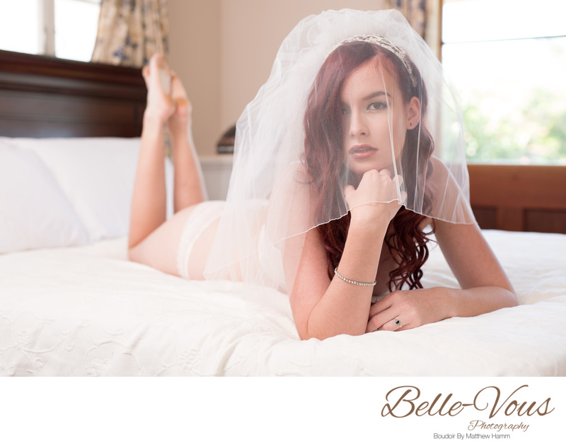 Bridal Veil Boudoir Photos
