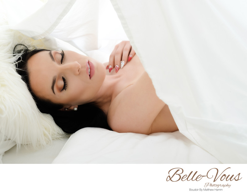 Brisbane White Sheet Boudoir Sessions