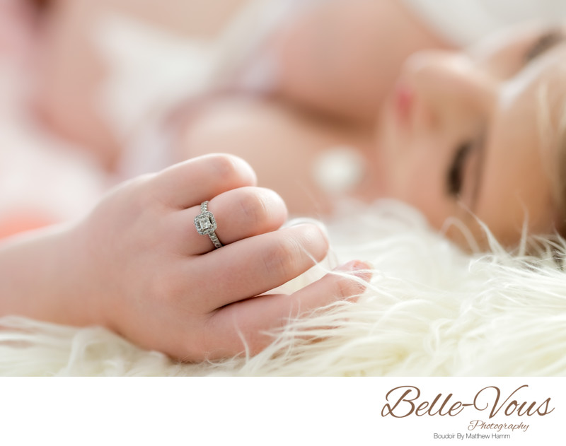 Wedding Ring Bridal Boudoir Photo