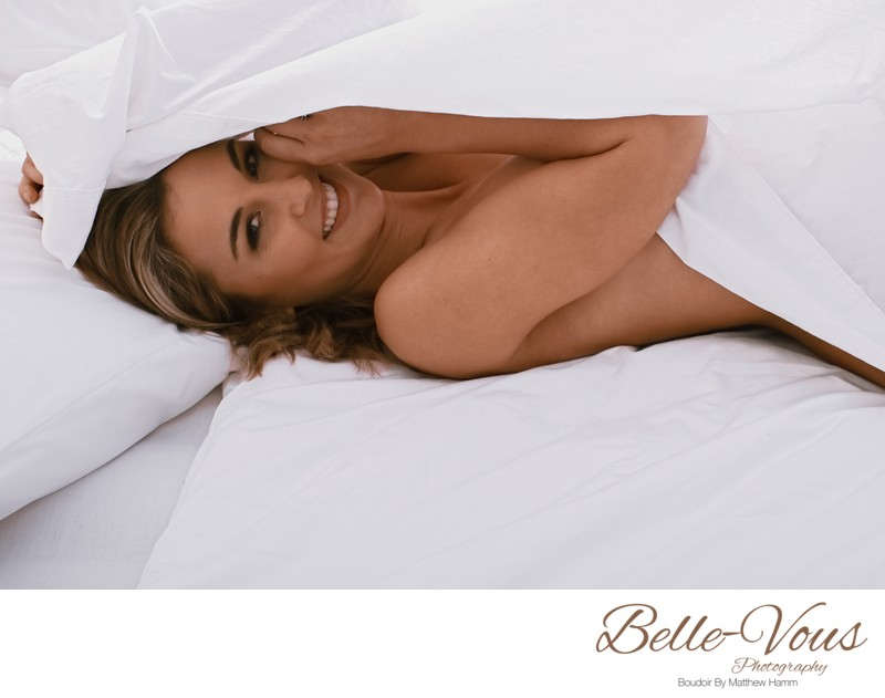 Sexy White Sheet Boudoir Session In Brisbane