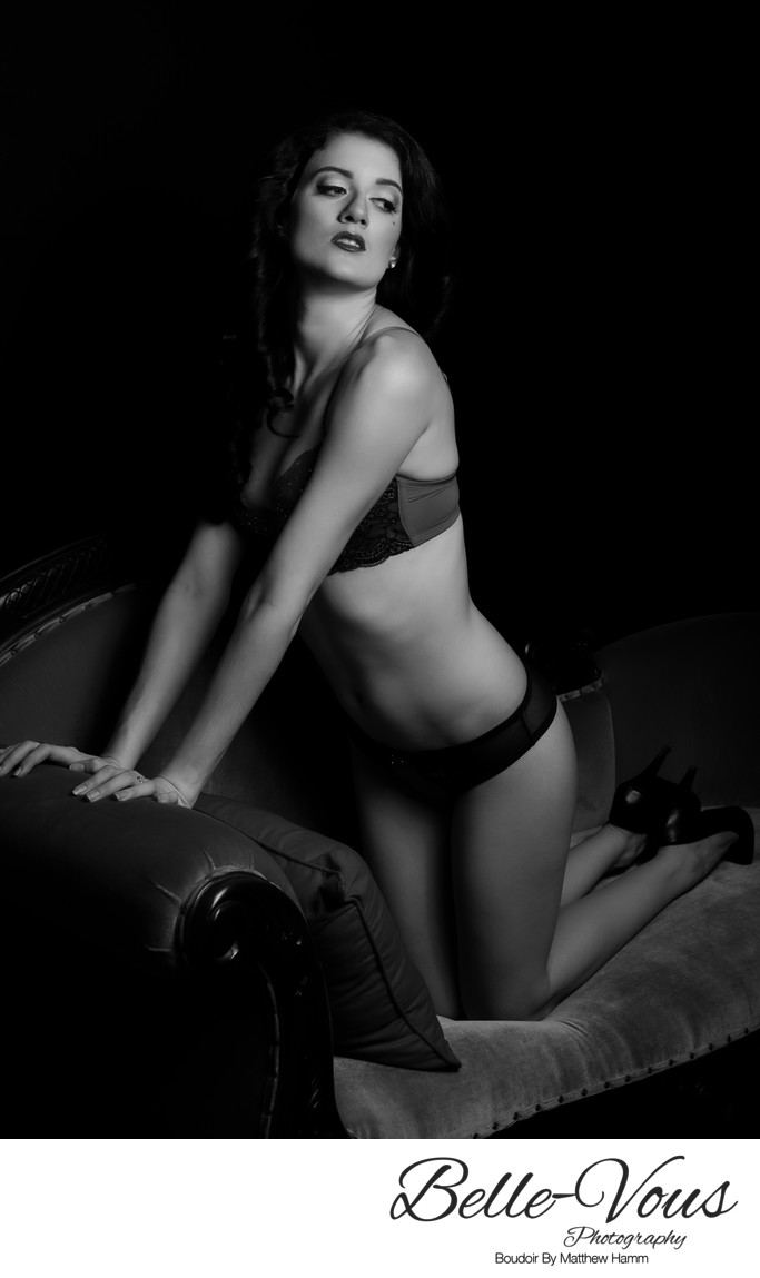 Elegant Black And White Pinup Photographer In Brisbane