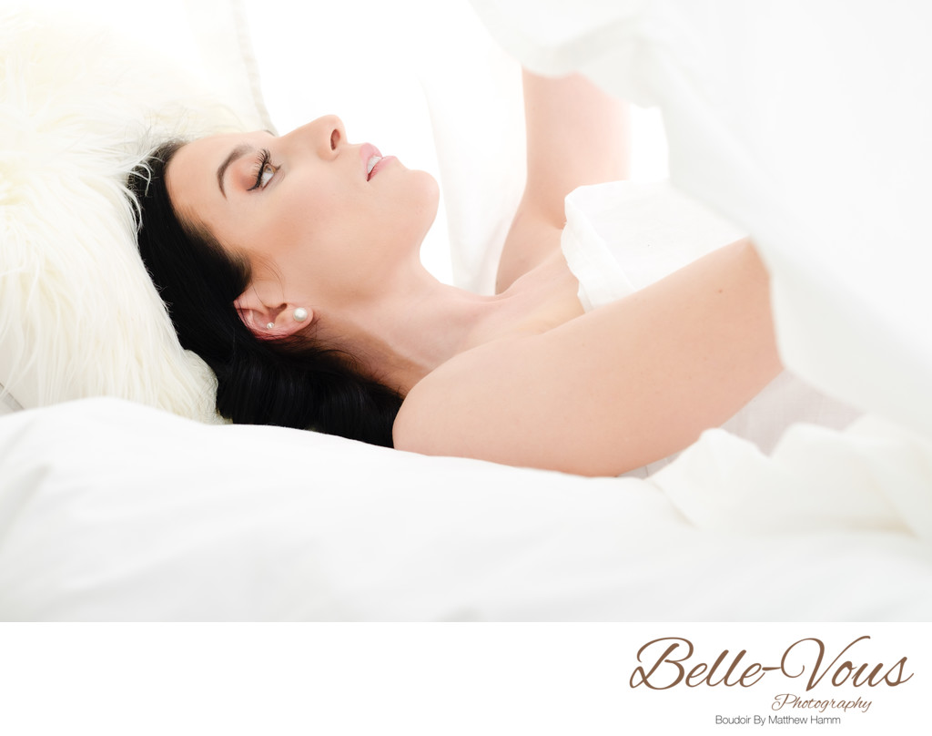 White Sheet Boudoir Photos Brisbane
