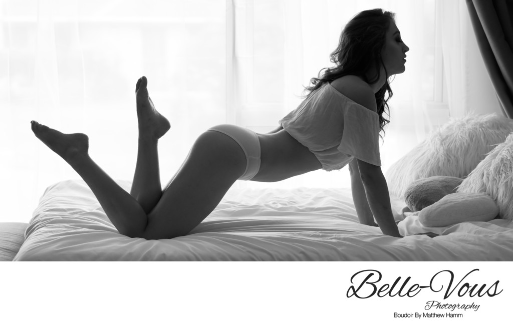 Black and White Boudoir Brisbane