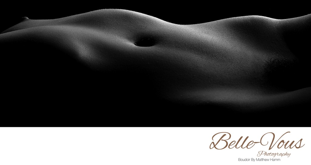 High Contrast Black And White Art Nude Bodyscape Photo