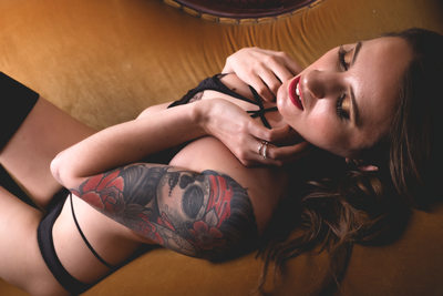 Lingerie And Tattoos Boudoir