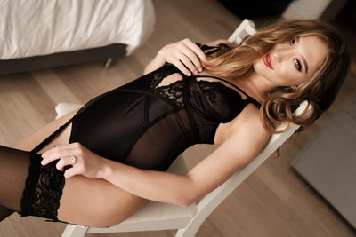 Bridal Boudoir In Black Lingerie