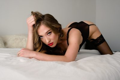 Sexy Flirty Romantic Boudoir Images Black Bodysuit