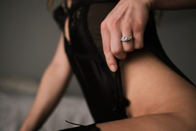 Engagement Ring Boudoir Pose