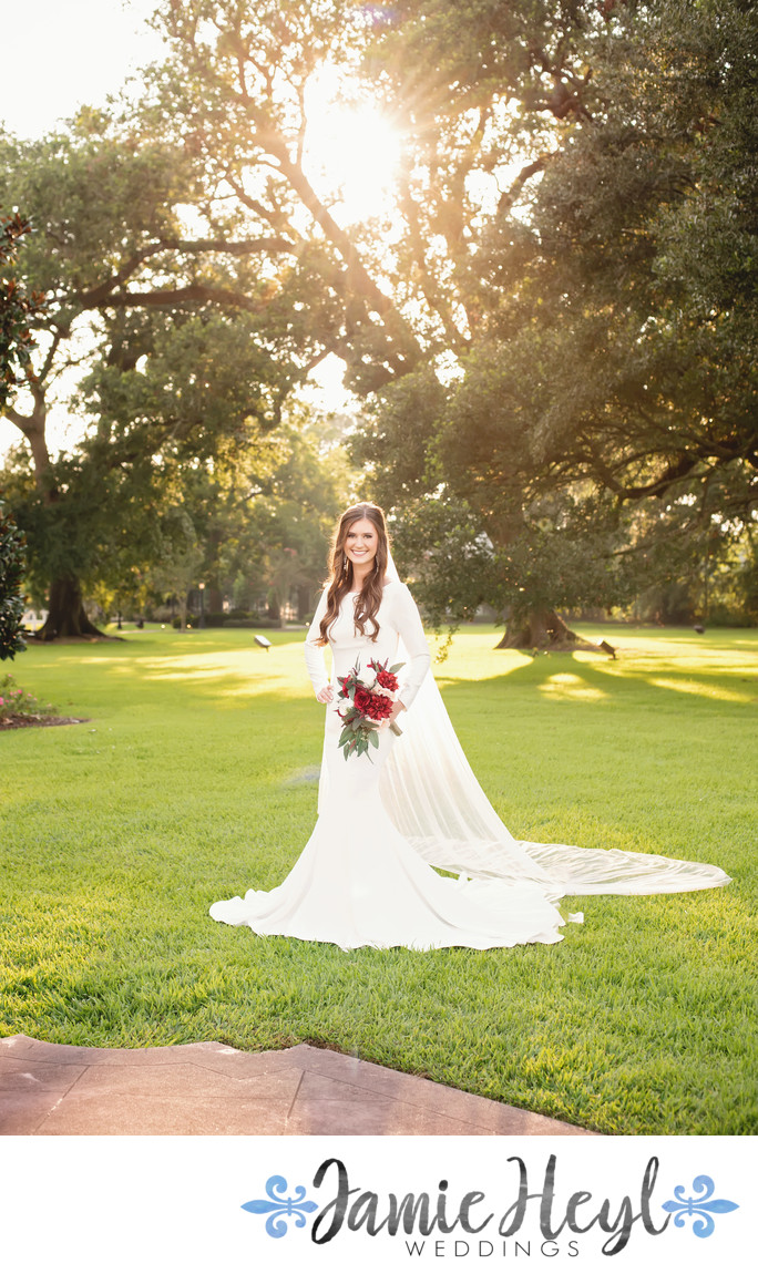 Nottoway Plantation outdoor sunlight bridals