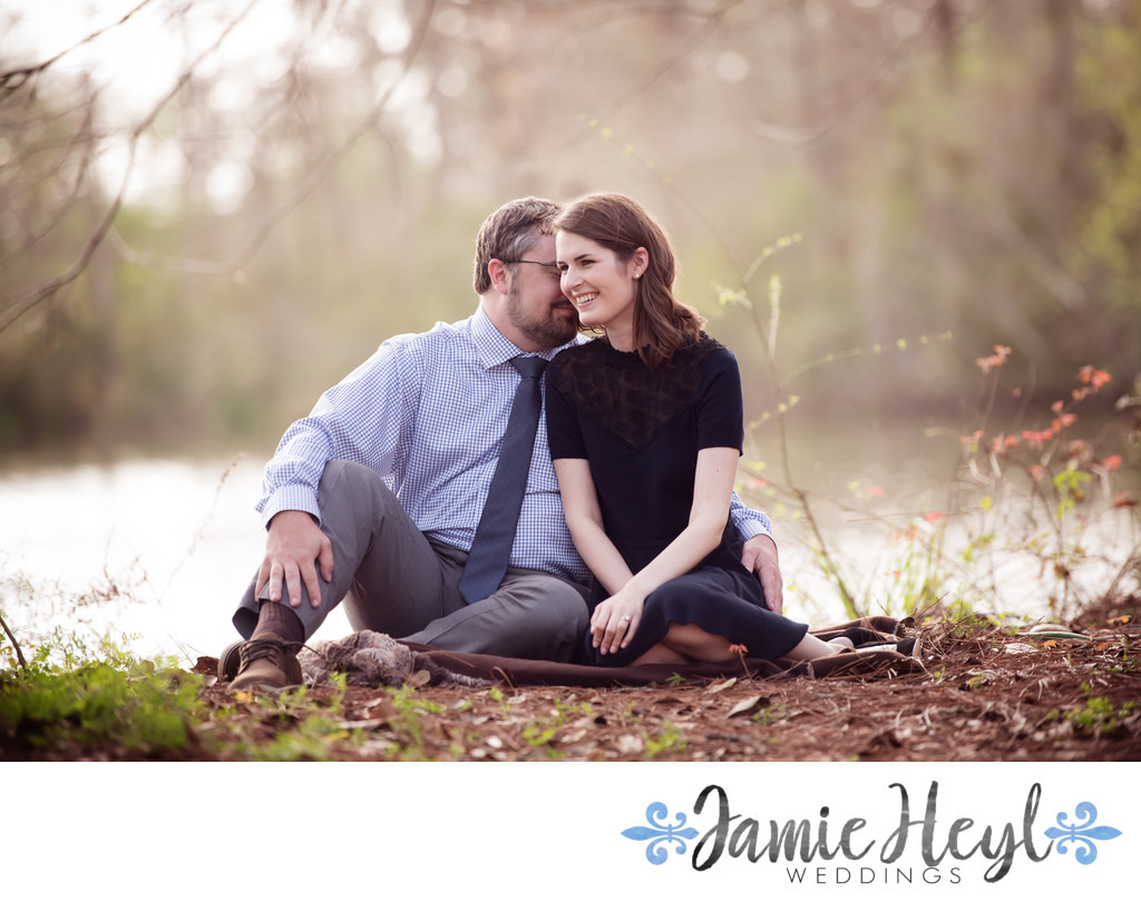 Winter Houma engagement photo