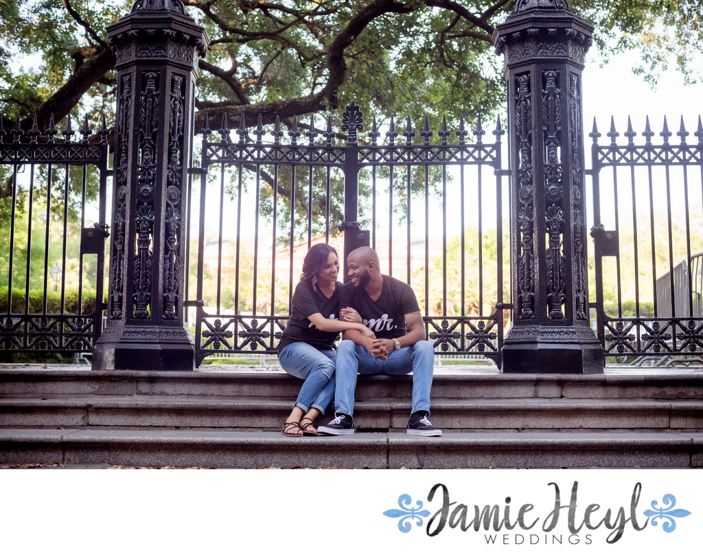 Jackson Square engagement photo