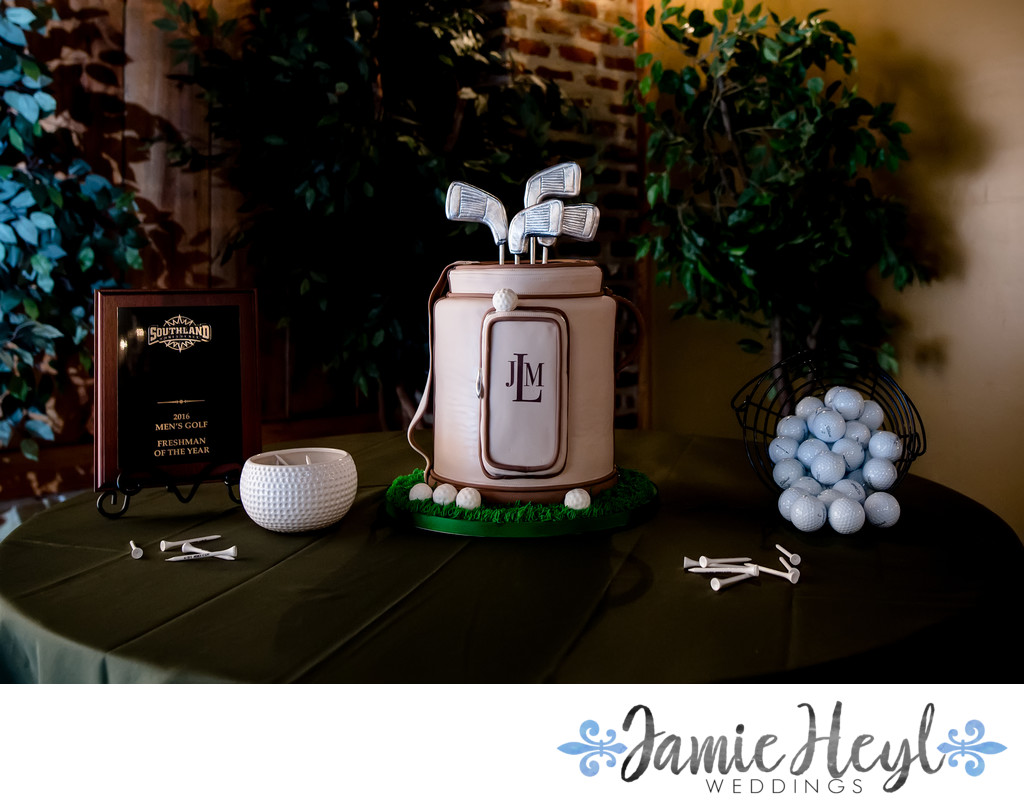 Golf Groom's Cake Nicobella Wedding Photographer