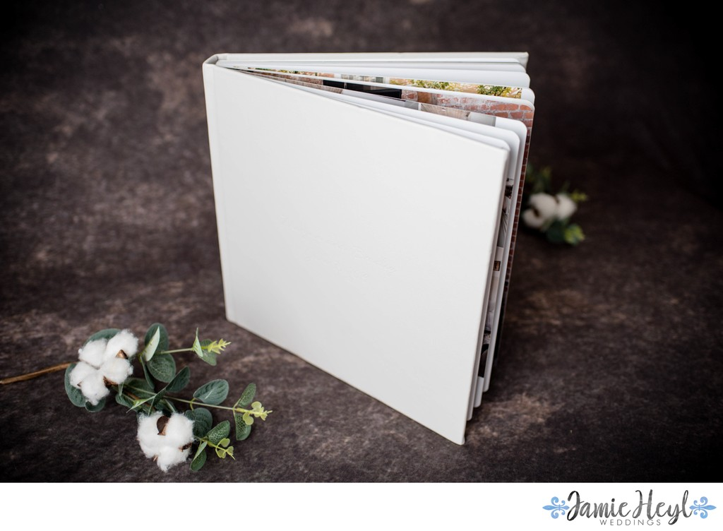 Soft Gray Leather Signature Album Rounded Corners