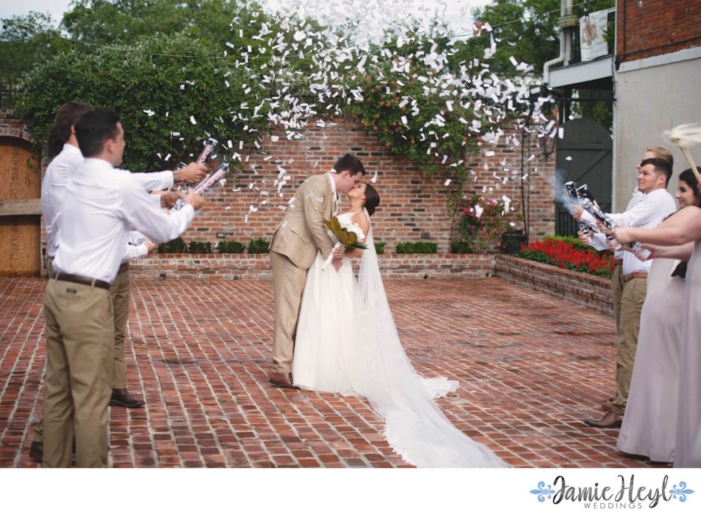 Confetti Exit for Bride and Groom at Maison De Tours