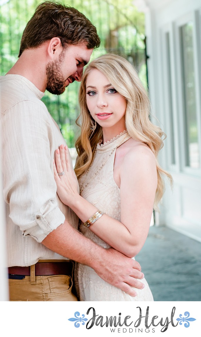 Engagement photography at Botanical Gardens