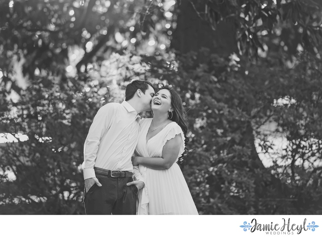 Black and White Houma engagement photography