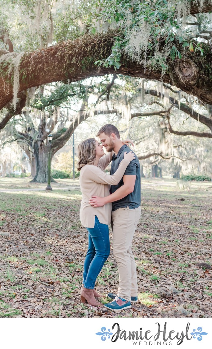 Southern engagement session in New Orleans