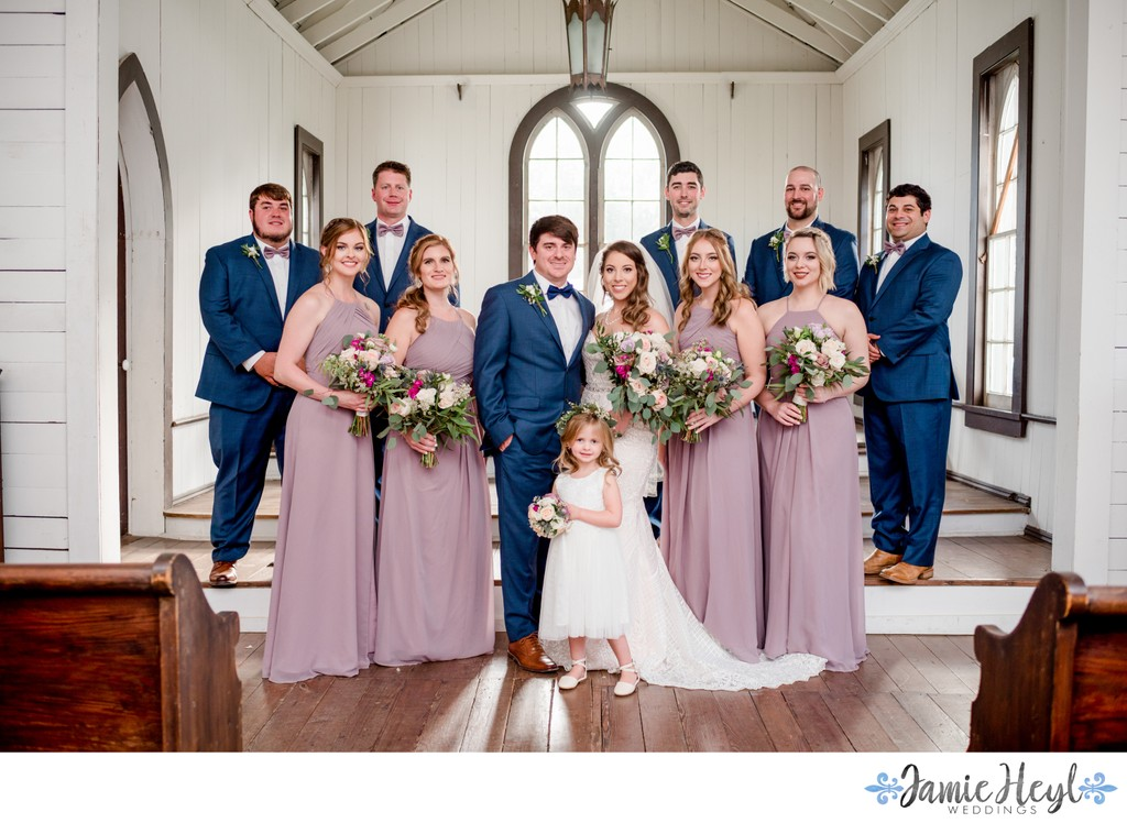 Bridal party photos at St. John's Episcopal Church