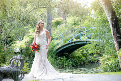 Houma's House Japanese tea garden bridal portrait