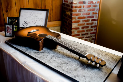 Guitar Groom's Cake Morgan City Wedding Photography