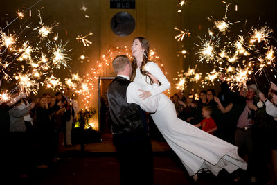 Sparkler Exit Nicobella Wedding Morgan City