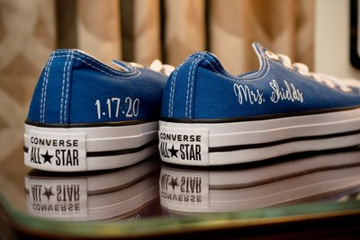 Blue Converse Wedding Shoes