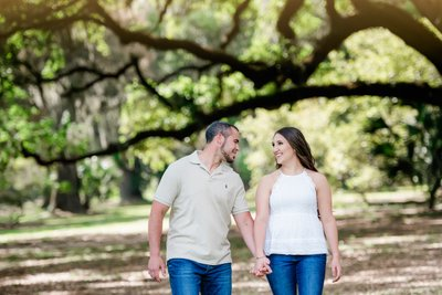 New Orleans City Park Engagement Photographer