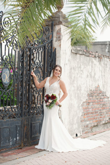 Race and Religious wrought iron gate bridals