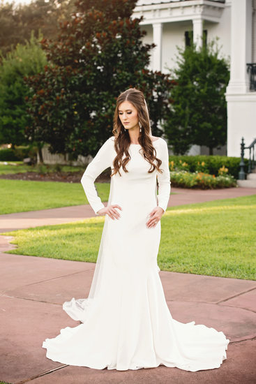 Nottoway Plantation outdoor bridal portrait