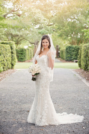 New Orleans Botanical Gardens bridal portraits