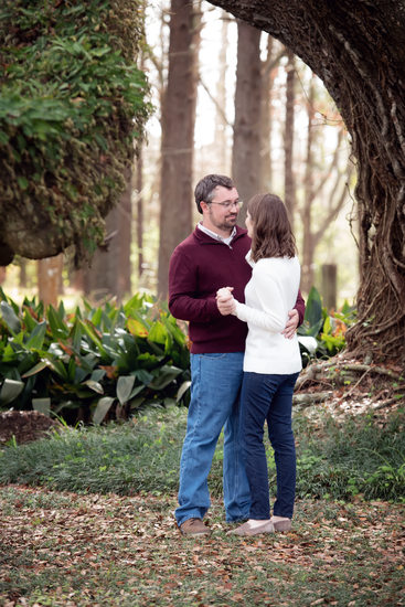 Houma winter engagement photos