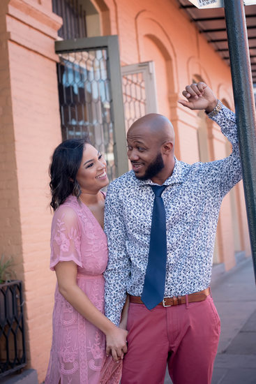 French Quarter Royal Street engagement photo
