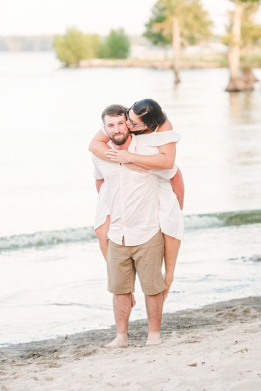 Lake End Park beach engagement photos