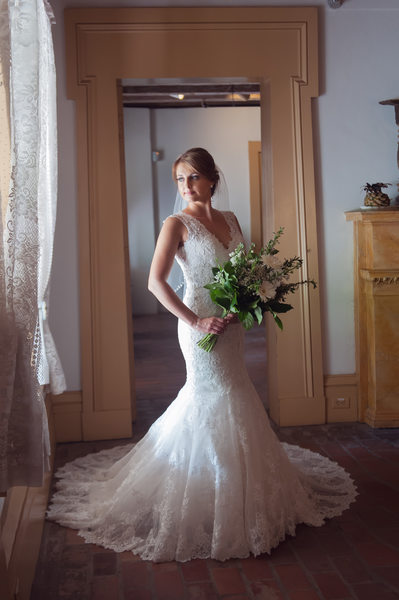 Destrehan Plantation indoor bridal photo