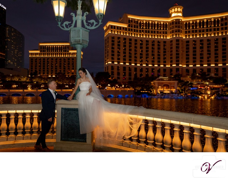 Las Vegas Elopement Destination Wedding Bellagio