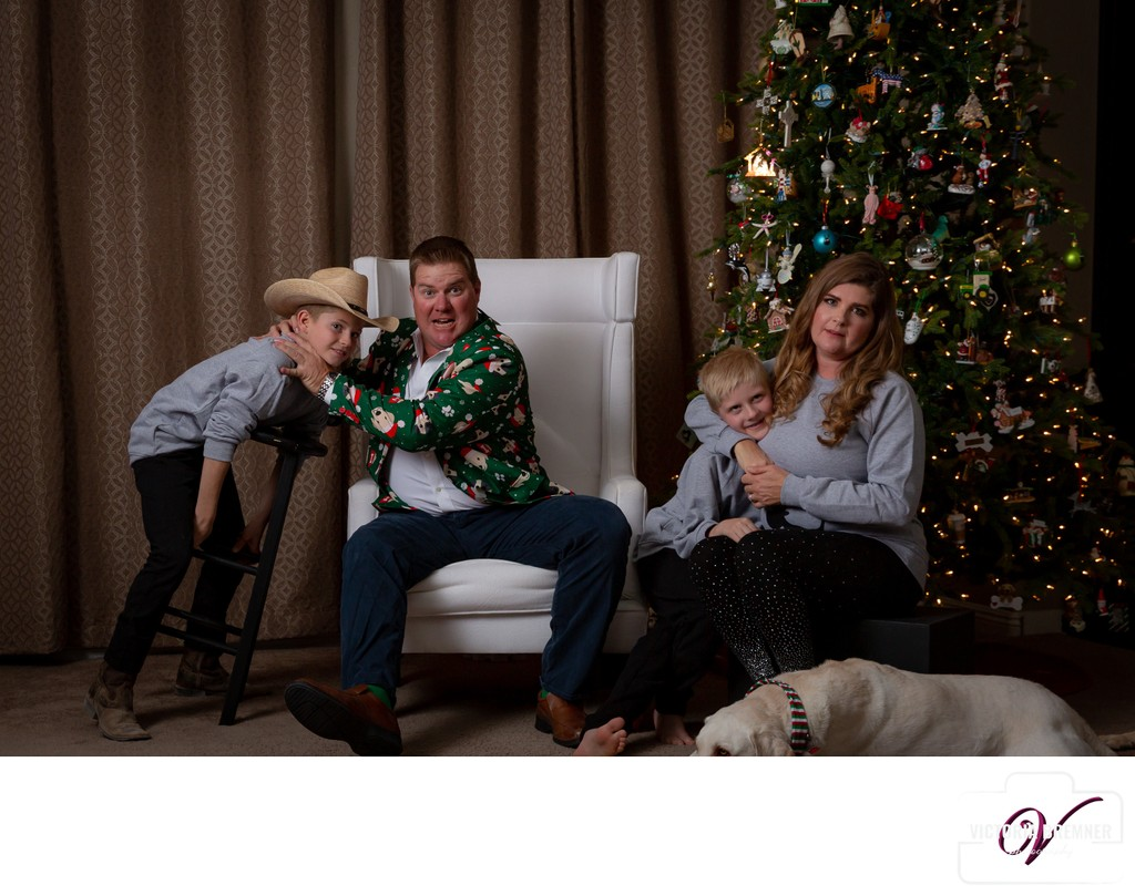 The true meaning of Christmas funny family photos Las Vegas
