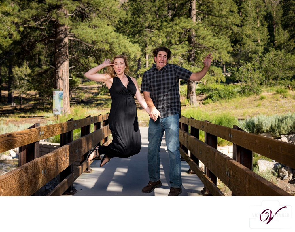Maternity photo session in Mt Charleston Las Vegas