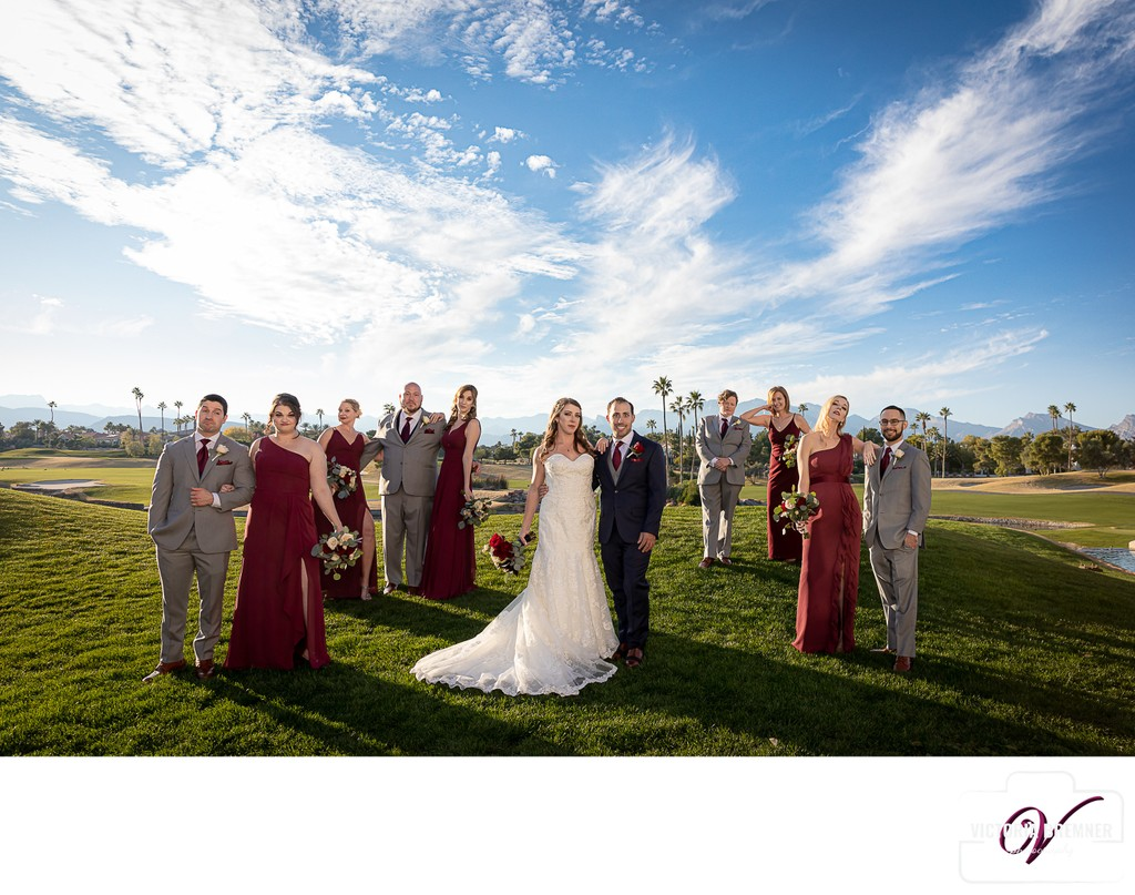 Wedding Party Portraits Canyon Gate Country Club
