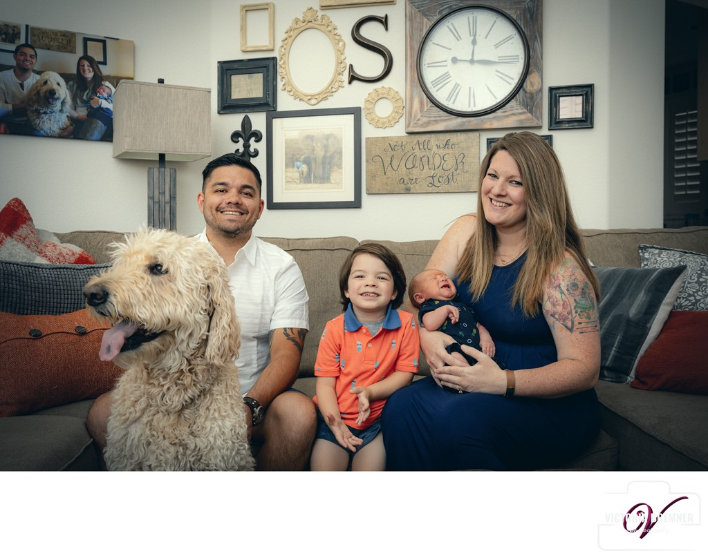 Family pet photos lifestyle portrait session Las Vegas