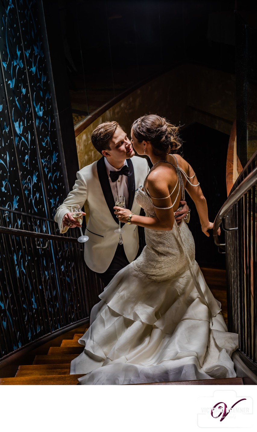 Wedding Photo at Trevi Stairway Caesars Forums Shops
