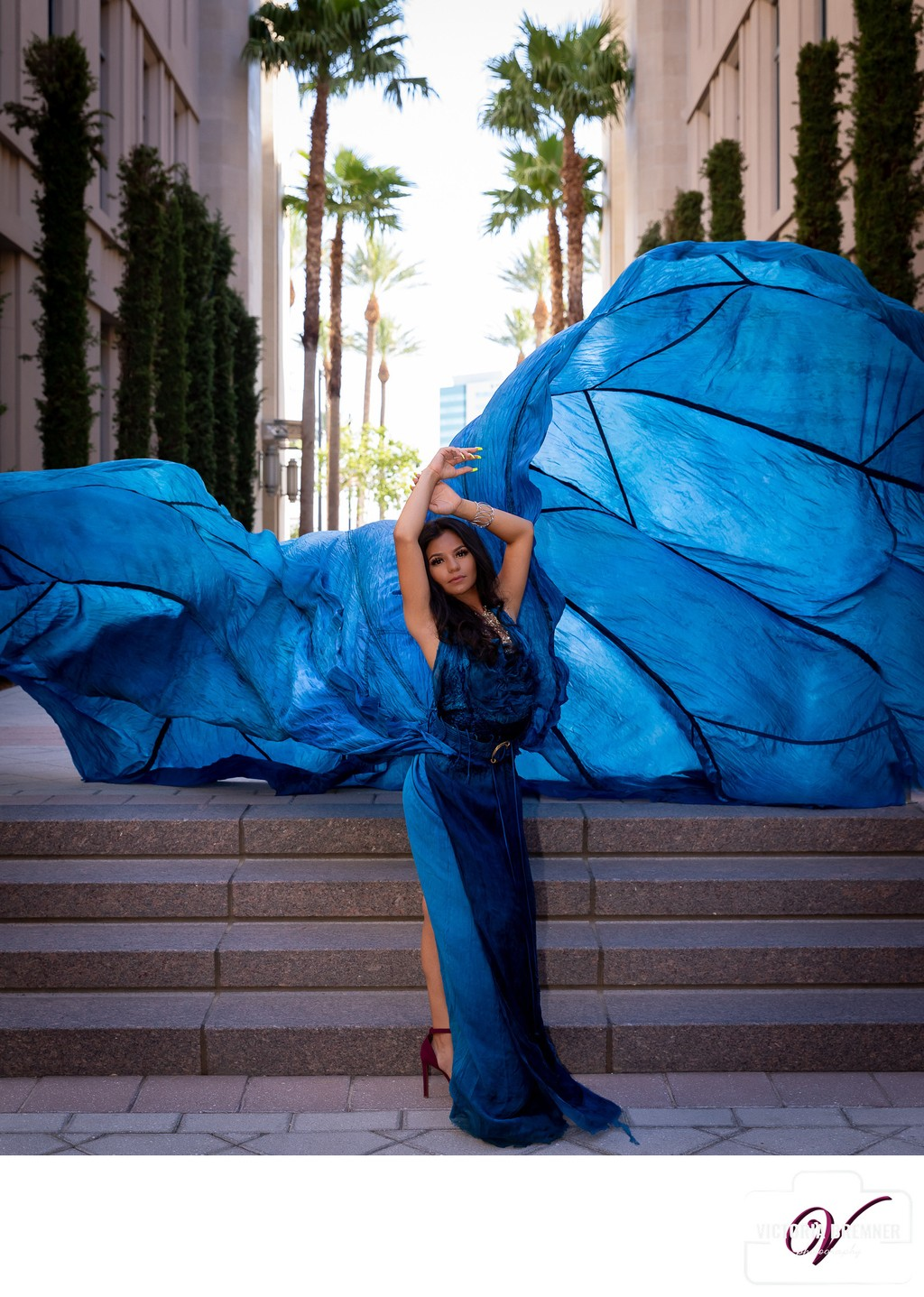 Las Vegas Parachute Dress Photography Photo Session