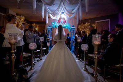 Chandelier Banquet Hall Wedding Las Vegas Photography