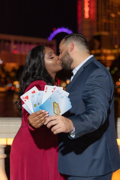 Las Vegas Engagement Photographer Bellagio Fountains