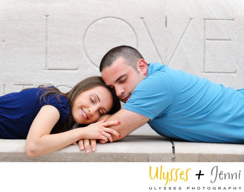 Columbia University Engagement Photo
