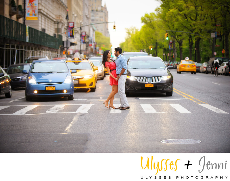 Manhattan Street Engagement Yellow Cab