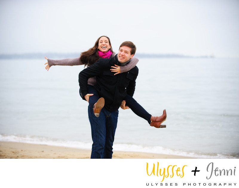 Engagement Long Island Sound Beachfront