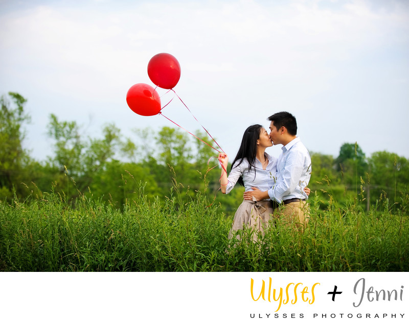 Two Red Balloons Engagement