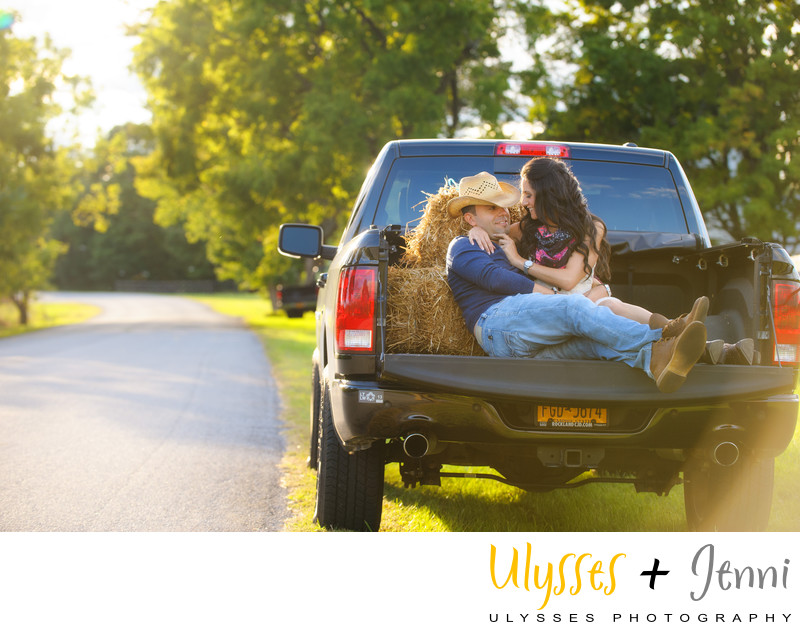 Country Chic Engagement Photo