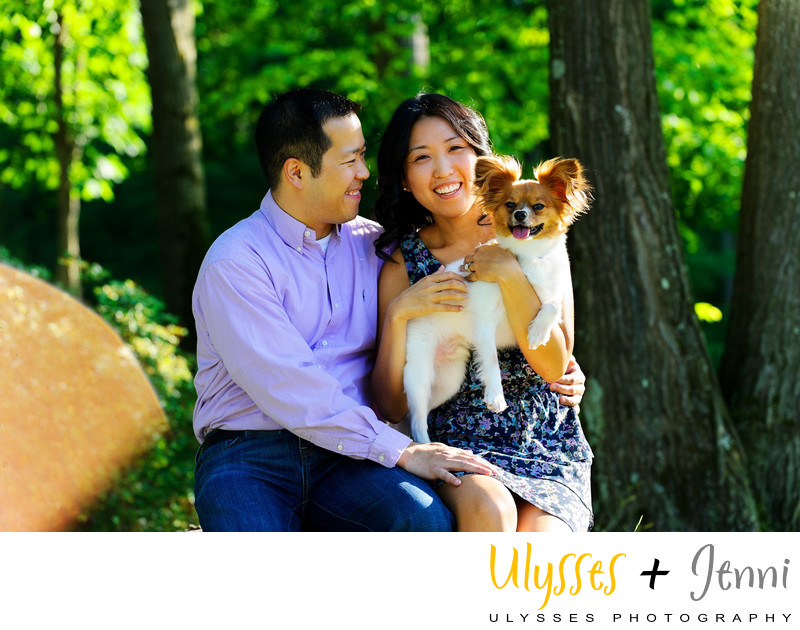 ENGAGEMENT PHOTO WITH PUP