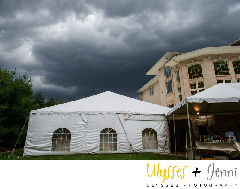 Thunderstorm at Tent Wedding